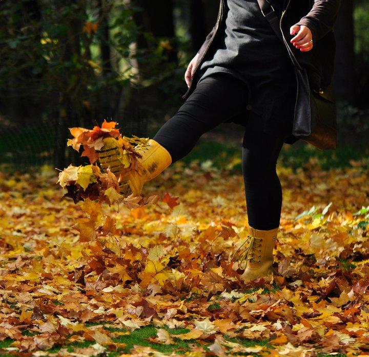 kicking-leaves